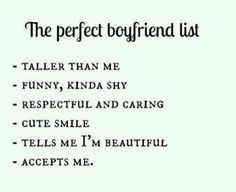 boyfriend, perfect, and list afbeelding