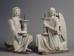 Pair of candlesticks holders Angels Giovanni della Robbia (1469-1529 / 1530) (attributed). Louvre