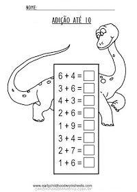 Blog Cantinho Alternativo: Fichas de Adição até 10 ou 20 Para Imprimir