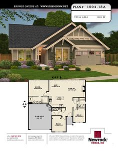 <3 <3 <3 <3 This is a realistic plan for us. The floor plan is exactly what we need without being overdone. Newrock Homes Plan #1504-13A | Newrock Homes