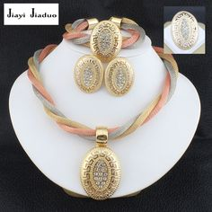jiayijiaduo Jewelry sets wedding crystal bridal african gold-color women jewelry set necklace earrings Bracelet ring dubai //Price: $20.49 & FREE Shipping //     #shopping #styles