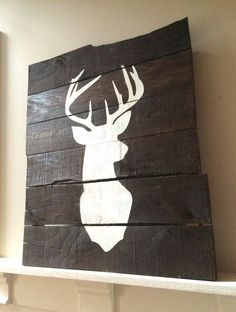 Hey, I found this really awesome Etsy listing at https://www.etsy.com/listing/216685274/deer-pallet-sign-rustic-home-decor-deer