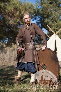 """BROWN Viking Tunic """"Eric the Scout""""; Ready to Ship; Fixed Sizes in Stock; Discounted Price"""