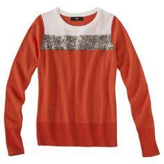 burnt orange + gold sequin stripe | $30 {look at you, target!}