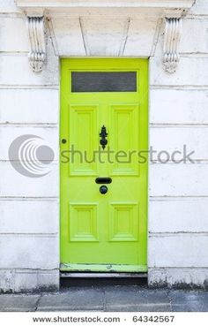 Want to paint front door lime green by jordanewby336