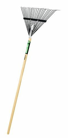 Truper 30480 Tru Tough Steel Leaf Rake 24Inch Head Wood Handle 54Inch -- Read more reviews of the product by visiting the link on the image.