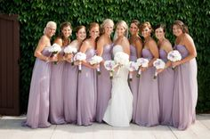 Love the colour of these Bridesmaid dresses