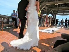 A Lovely Train for Bride's Dress --Destination Wedding at the Reach Resort in Key West with The Best Wedding DJ Ever! http://mbeventdjs.com