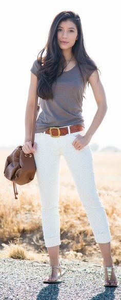 Neutral Colors in a Summer Outfit by Stylishly Me
