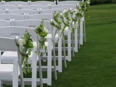 How are you lining your outdoor ceremony aisle? Wedding Aisles, Chapel Wedding, Wedding Table, Wedding Pew Decorations, Wedding Themes, Flower Decorations, Fence Decorations, Aisle Flowers, Wedding Flowers