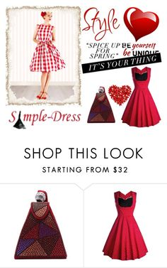 """7. Simple-Dress"" by hetkateta ❤ liked on Polyvore featuring modern and vintage"