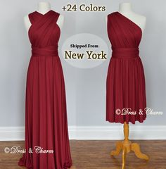 Burgundy Bridesmaid Dresses gown convertible by justDressAndCharm