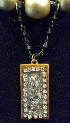 Guadalupe statement necklace by SacredYoliDesigns on Etsy, $40.00