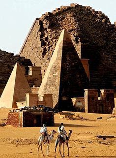 The Hidden Beauty Of El-bijrawia Pyramids In Meroe Sudan - Amazing place where you gonna feel the spirit of the ancient civilizations around you. Yes, Sudan maybe is not the safest place for travelers who are hit by a wanderlust, but it's worth the risk. I have never been here, but i will grab any opportunity to go. You should explore the net for this place, you will find it very interesting. #Sudan