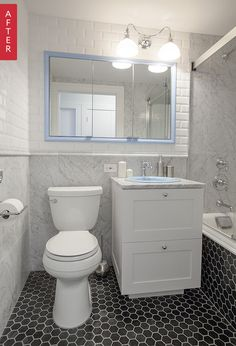 NYC Condo Bathroom Remodeling: Eek to Sleek | Apartment Therapy