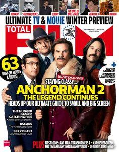 Will Ferrell, Steve Carell, Paul Rudd & David Koechner (2013.12. Total Film)