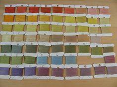 solar dyed silk thread