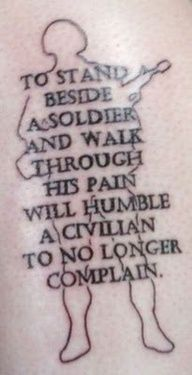 soldier quote as a tattoo