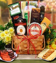 Not only are you buying the Ultimate Meat & Cheese Collection, but now it comes in a stylish picnic basket that's packed and ready for your perfect picnic! Filled with Water Crackers, Apple Smoked Cheddar, Marin Rogue, Havarti Dill, Herb Salami, Smoked Salmon, and much more. Enjoy!