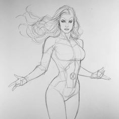 Jean Grey by Frank Cho Character Sketches, Character Drawing, Character Design, Art Poses, Drawing Poses, Drawing Ideas, Drawing Tips, Figure Drawing Reference, Art Reference Poses