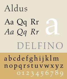 Specimen of the typeface Aldus, Jim Hood