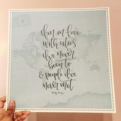 """@teenyletters on Instagram: """"... because lettering on maps is my favourite ☺ . . #lettering #handlettering #calligraphy…"""""""
