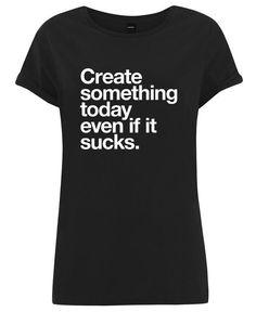 Create Something Today White als Frauen T-Shirt von WORDS BRAND™ | JUNIQE