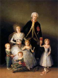 Francisco de Goya. Cuadros:  Los duques de Osuna y sus hijos