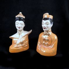 Fancy Living Rooms, Chinese Figurines, Mid Century Decor, Asian Men, 1960s, Hand Painted, Usa, Woman, Retro