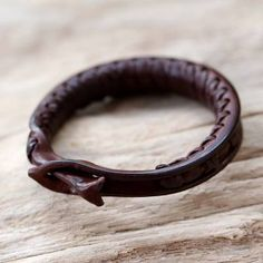 Leather wristband bracelet, 'Wishes' - Leather Wristband Bracelet