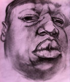 a notorious b.i.g portrait i did quite a while ago #artshare #rip #mylife #love