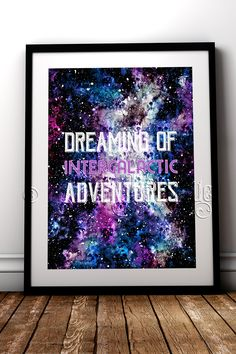 If you have a little one that dreams of adventures in space this fine art print is perfect #RockChicBoutique #Space #SpaceArt #KidsRoomDecor