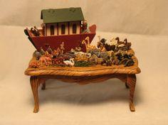 1:12 scale toy Noah's Ark set, how cute!!