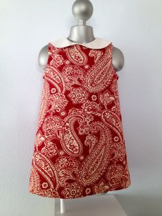 Burgundy & Cream Paisley Classic Sleeveless by BabySuzannaJohanna, $45.00