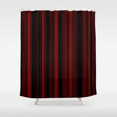 "Stop neglecting bathroom decor - our designer Shower Curtains bring a fresh new feel to an overlooked space. Hookless and extra long, these bathroom curtains feature crisp and colorful prints on the front, with a white reverse side. - One size: 71"" (W) x 74"" (H) - Made in the USA with 100% polyester - 12 buttonhole-top for easy hanging - Machine washable, tumble dry - Rod, curtain liner and hooks not included Striped Shower Curtains, Custom Shower Curtains, Bathroom Curtains, Red Stripes, Hooks, Crisp, Colorful, Space, Usa"