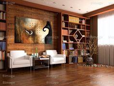 Gemütliches Ambiente mit ein Stückchen Kunst (www.bimago.com, www.bimago.de)