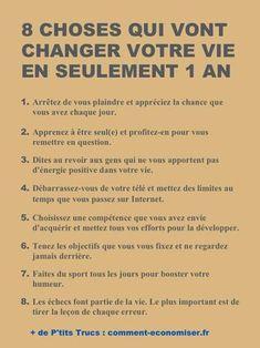 8 Choses Qui Vont Changer Votre Vie En Seulement 1 An.
