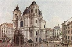 11 Petersplatz in 1800 Vienna, Austria, Notre Dame, Barcelona Cathedral, Hedgehog, Old Things, Victorian, Architecture, Classic