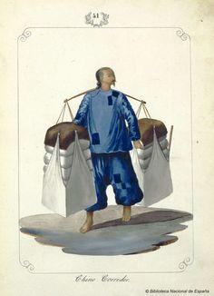 Chino Corredor. Lozano, José Honorato 1821- — Dibujo — 1847 Philippines Outfit, Philippines Fashion, Philippines Culture, Filipino Fashion, Manila, Boxer Rebellion, Philippine Art, Filipino Culture, Filipiniana
