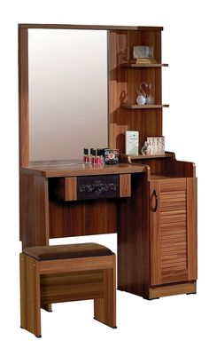 Minimalist, Modern, and Classic Decorative Table Design - Dressing table is one of the furniture that is almost alwa Dressing Table Mirror Design, Simple Dressing Table, Modern Dressing Table Designs, Dressing Mirror, Living Furniture, Home Decor Furniture, Home Decor Bedroom, Furniture Design, Conference Table Design
