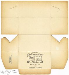 printable antique butter box with great tips about making it look authentically old - which could be used as a template for other boxes - great find! | Source: Knick of Times Interiors