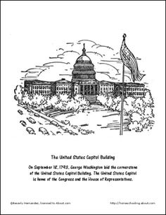 Lincoln Memorial Worksheet | Lincoln Memorial Coloring Page ...