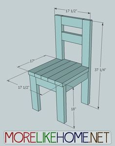 Build a simple chair out of 2x4s with MoreLikeHome.net for around $10. Plus Lowes / Home Depot gift cards giveaway!