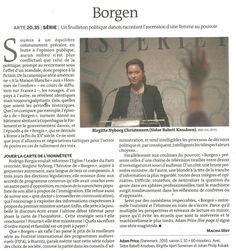 """""""Borgen"""" (Le Monde Télévision)"""