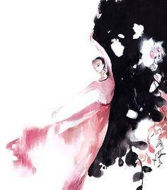 Ballerina Fine Art Print, Watercolor Painting Print, Ballet Painting, Ballerina in Pink, Modern Wall Art, Dance Art, Abstract Background Fine Art Print from Watercolor Painting by CanotStopPainting Ballet Watercolour Wall Art Ballerina in Pink, Abstract background PRINT DETAILS: