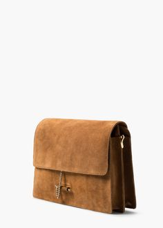 CHAIN SUEDE BAG REF. 55035629 - PAULA C Mango (Add texture to an all black outfit or white)