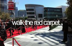 hah i walked to purple carpet for the jonas brothers' 3d movie premiere if that counts..