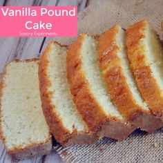 A classic Vanilla Pound Cake Recipe should be in every cook's recipe box. This is by the far best, soft and buttery pound cake out there!
