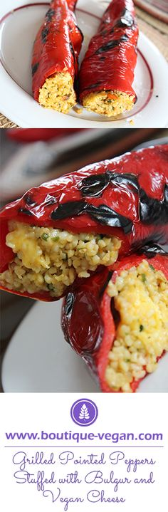 #Bulgur is the star in our vegan recipe of the week: Grilled Pointed #Peppers Stuffed with Bulgur and Vegan Cheese http://www.boutique-vegan.com/recipes/ The oriental shredded wheat is not only a nutritional value bomb, which contains B Vitamins, Vitamin E, Calcium, Magnesium and Phosphorus, it's also really satiating. Therefore perfect for a vegan diet! Everyone who knows couscous, should definitely get stored up with bulgur! ;)