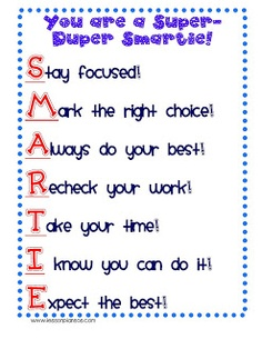 These are great suggestions for doing tests and are very positive. The students are supported and encouraged to do their best work with positive expectations.